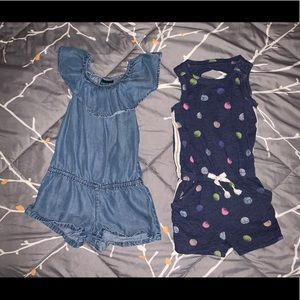 2X Girls Rompers Onsie Bundle 2T